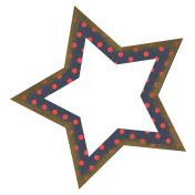 Navy Blue Polka Dot Star
