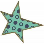 Teal Polka Dot Star
