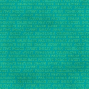 Word Paper- Christmas- Teal
