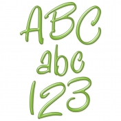 Merry & Bright Plastic Alpha- Green
