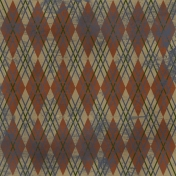 Argyle 08- Brown Distressed