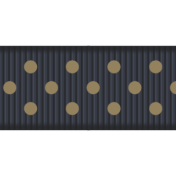 Medium Ribbon- Polka Dots 01- Navy & Brown