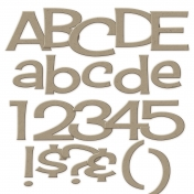 Sans Serif Chipboard Alpha