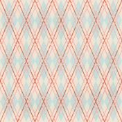 Argyle 8- Blue & Pink- Distressed