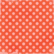Polka Dots 35- Coral & Pink- Distressed