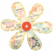 Paper Flower with Stamps