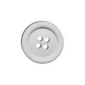 Blossom White Button