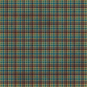 Plaid 33 Paper- Brown & Blue