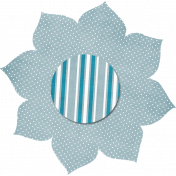 Light Blue Polka Dot Flower