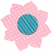 Pink Polka Dot Flower 2
