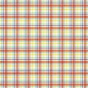 Plaid Paper 15- Coral & White