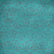 Ornamental Paper- Teal & Gray