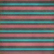 Stripes 25- Gray, Red & Teal