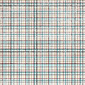 Plaid Paper 13- Red & Teal