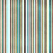 Stripes 77 Paper - Teal & Brown