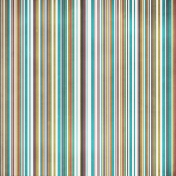 Stripes 77 Paper- Teal & Brown