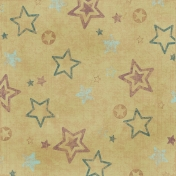 Stars 2- Teal & Brown