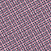 Pink Blue Plaid Paper