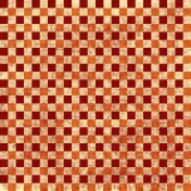 Gingham- Orange & Red