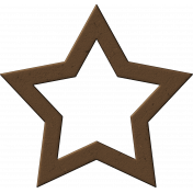 Brown Chipboard Star