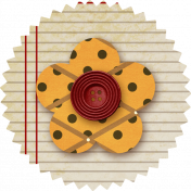 Paper Flower- Notebook & Polka Dots
