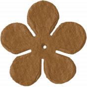Paper Flower 09- Brown