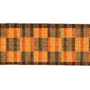 Gingham Ribbon- Orange & Brown