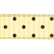 Polka Dot Ribbon- Cream & Brown