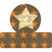 Orange & Brown Star Tab