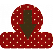 Red Polka Dot Arrow Tab