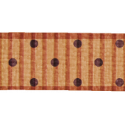 Polka Dot Ribbon- Brown