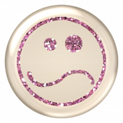 Emoticon Glitter Brad- Pink