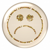 Emoticon Glitter Brad- Gold