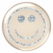 Emoticon Glitter Brad- Blue