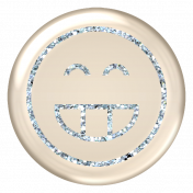 Emoticon Glitter Brad - Blue 2