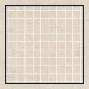 Square Grid Tag- Tan & Navy