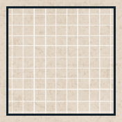 Square Grid Tag- Tan & Navy