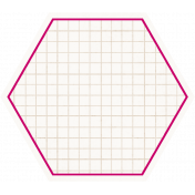 Hexagon Grid Tag- Pink & White