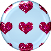 Glitter Heart Brad- Pink & Blue