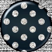 Polka Dot Glitter Brad