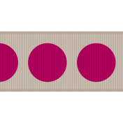 Fat Ribbon- Polka Dots 01- Tan & Pink