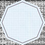 Octagon Grid Tag- Blue
