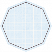 Octagon Grid Tag- Blue