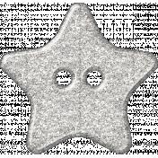 Plastic Glitter Star- White