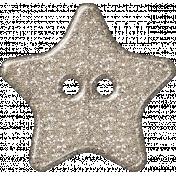Plastic Glitter Star- Champagne