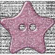 Plastic Glitter Star- Pink