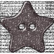 Plastic Glitter Star- Gray