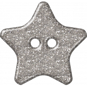 Plastic Glitter Star- Silver