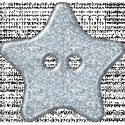 Plastic Glitter Star- Blue