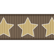 Medium Ribbon- Stars- Brown & Tan